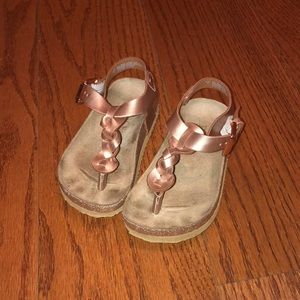 Children's place rose gold sandals